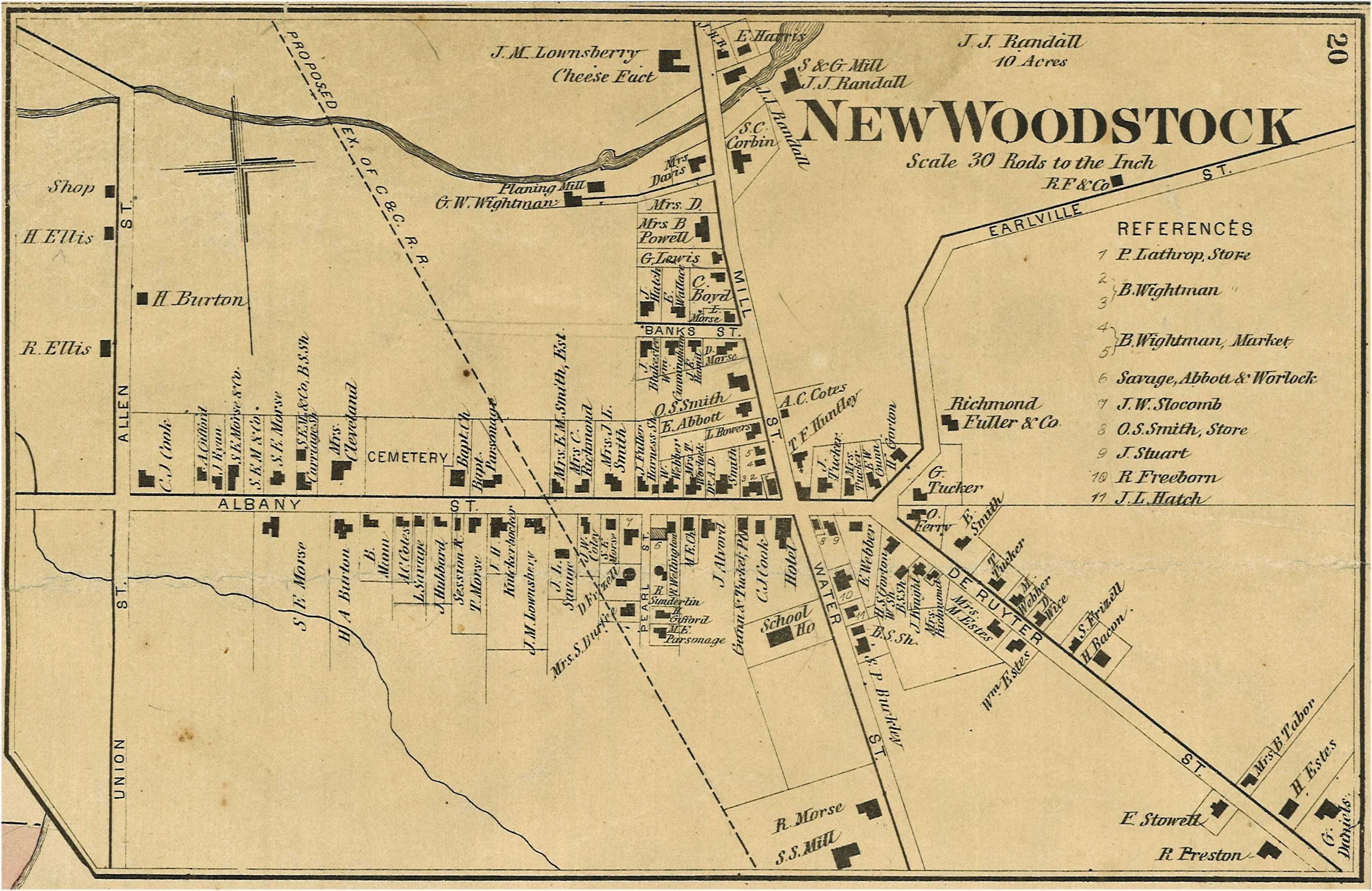 Map Of New York In 1800.Archival Records Madison County Ny