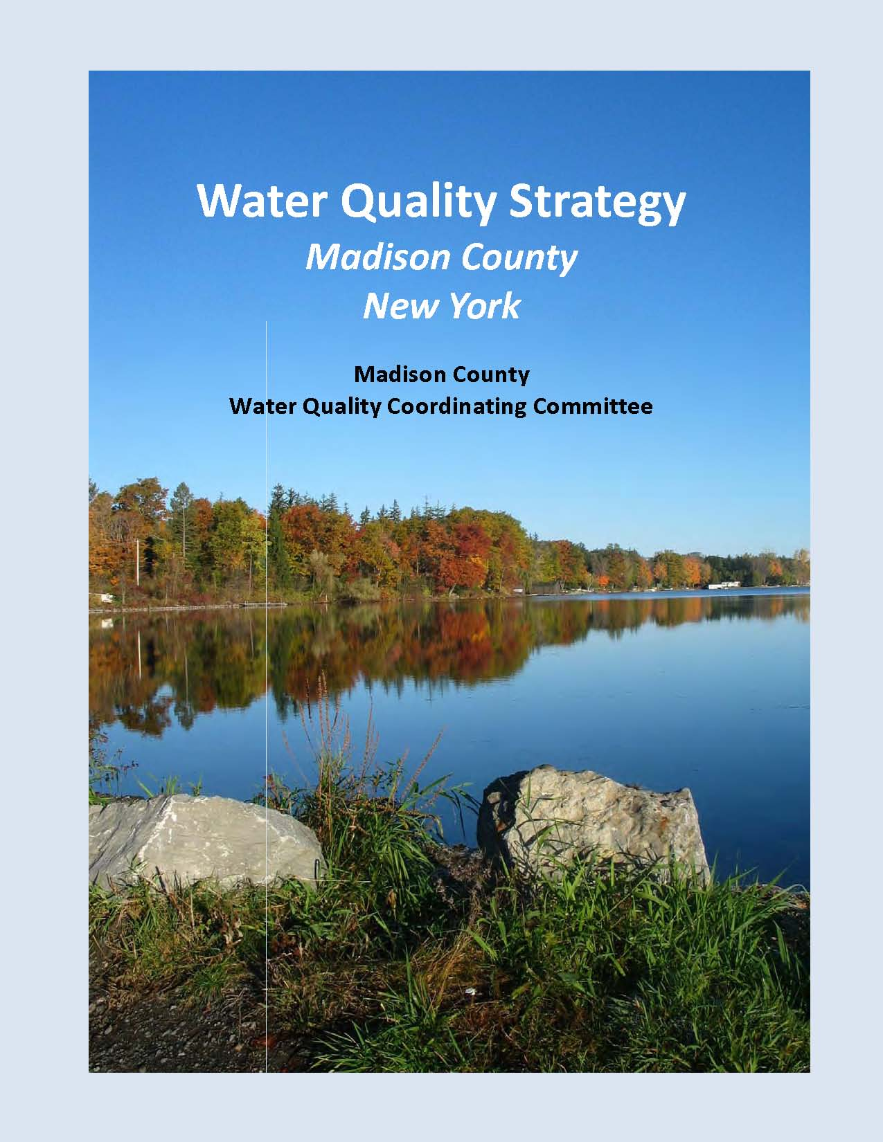 Water Quality Strategy Report Cover