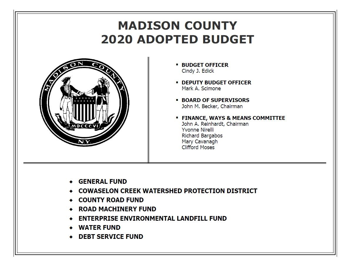 2020 county budget