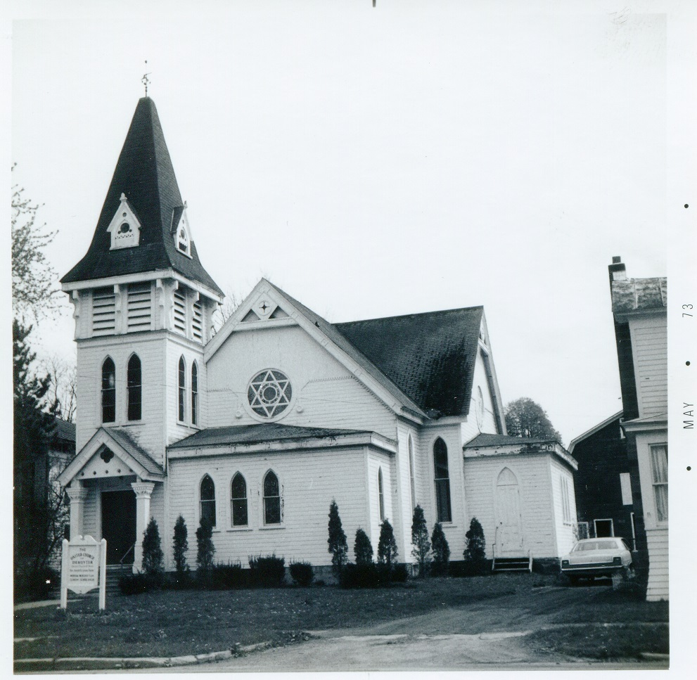 Cortland St DeRuyter South side Church United Church of DeRuyter 10 May 1973