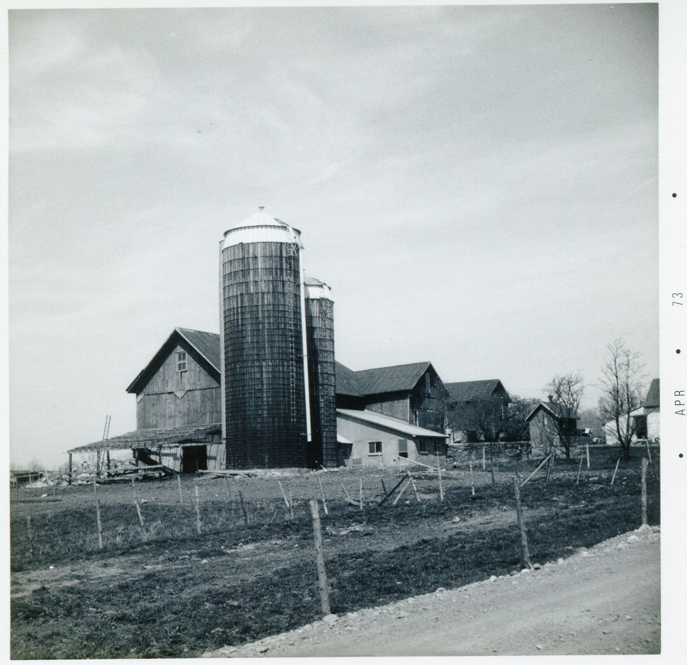Bishop Rd Madison west side south of Hillcrest Rd Barns and Silos 25 April 1973