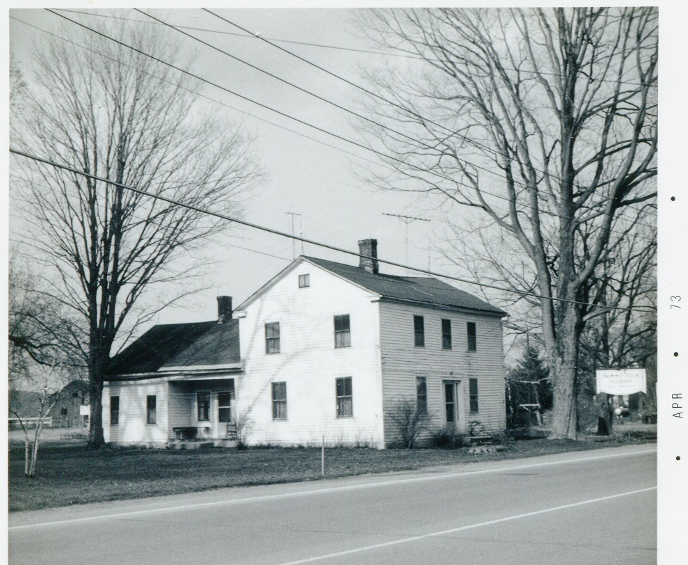Rt 20 Bouckville north side east of Indian Opening Rd intersection house Summit Farm 20 April 1973