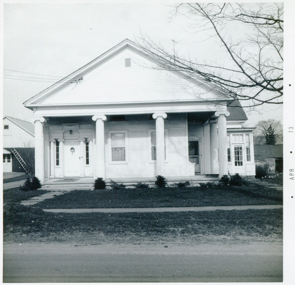 Solsville Rd Madison east side north of Rt 20 house greek revival 21 April 1973