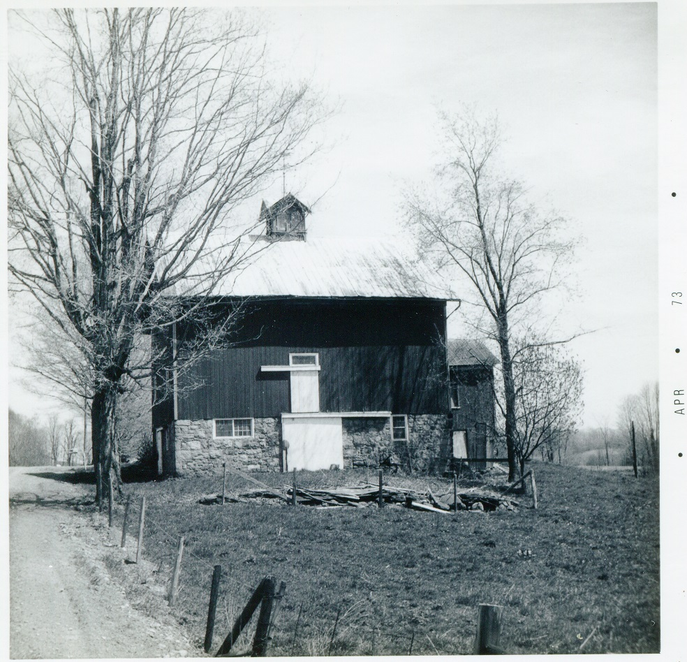 Bishop Rd Madison east side north of West Hill Rd intersection Barn C A Maine 25 April 1973