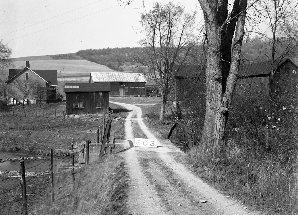 Cemetery Road near the Otselic River, Georgetown