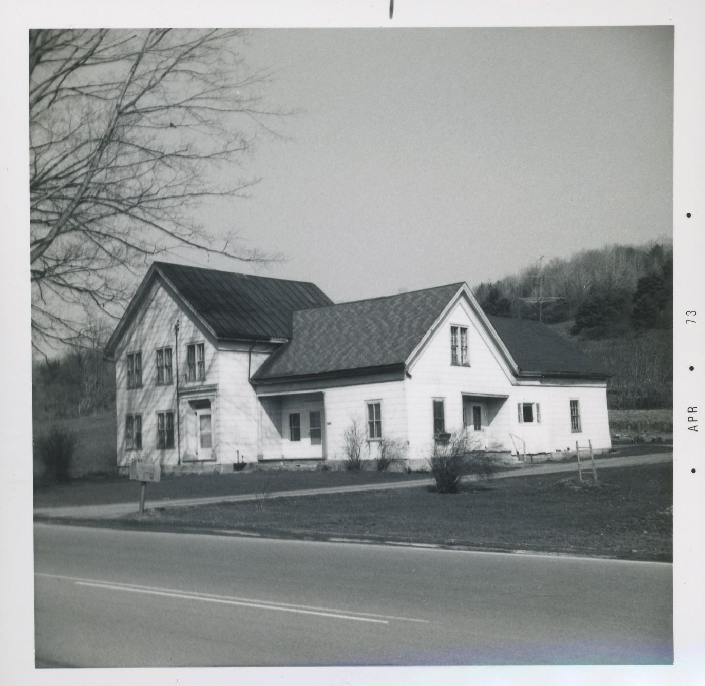 Route 20 west of Bouckville north side house 20 April 73