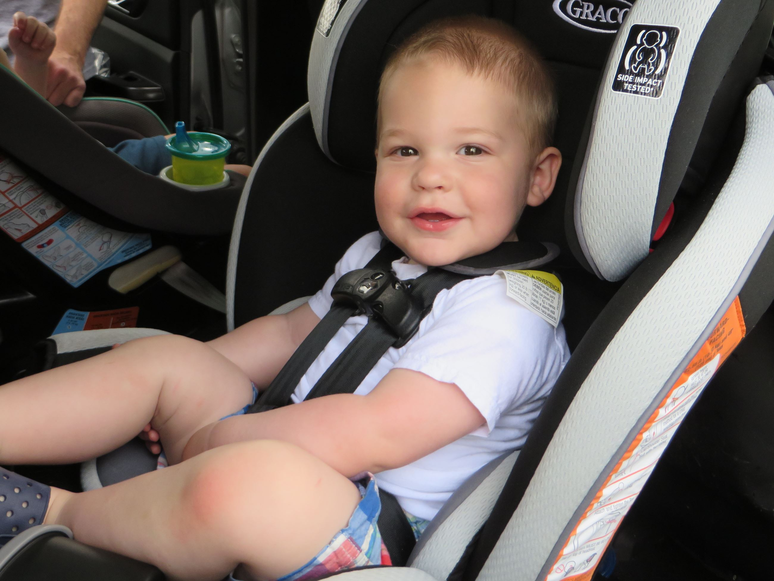 Child Properly Restrained in Car Seat