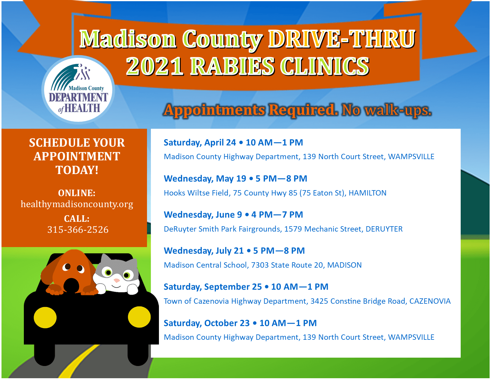 Rabies Drive Thru Clinic Flyer