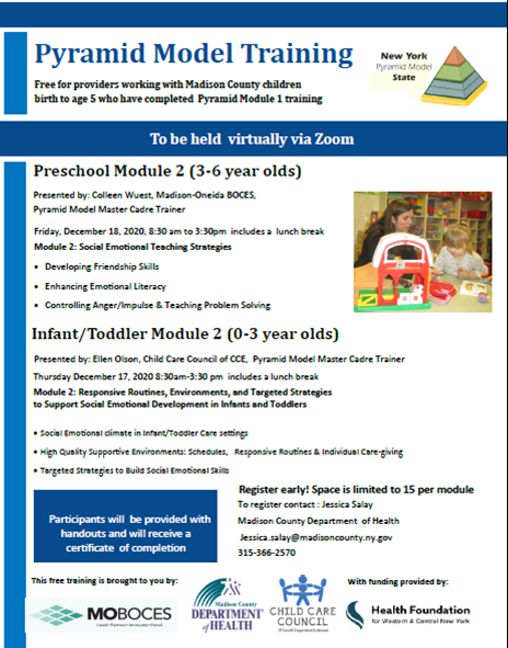 Pyramid Module Training Flyer