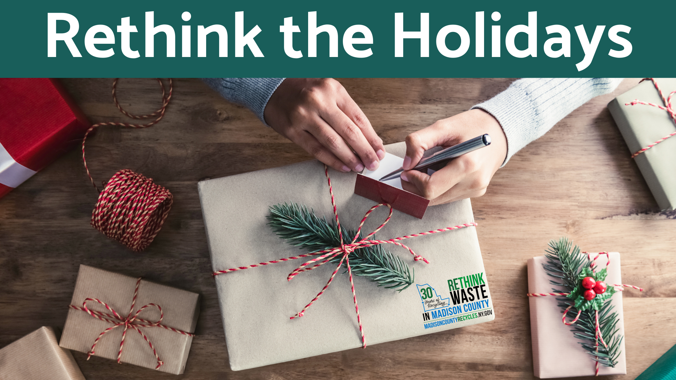 Website Banner for Rethinking the Holidays