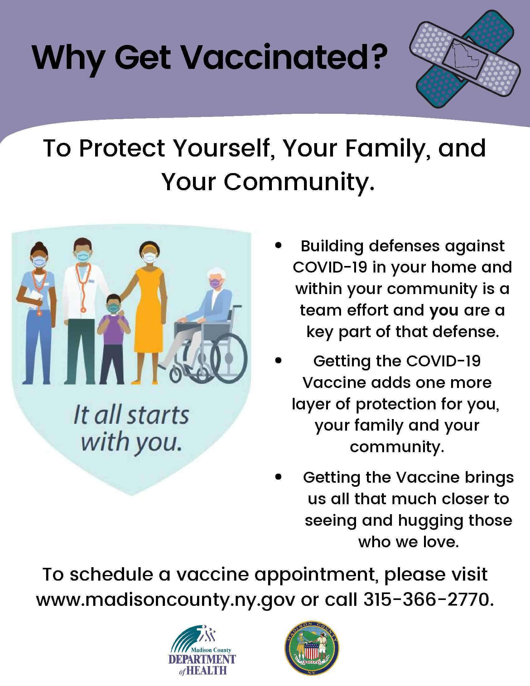 Why Get Vaccinated flyer