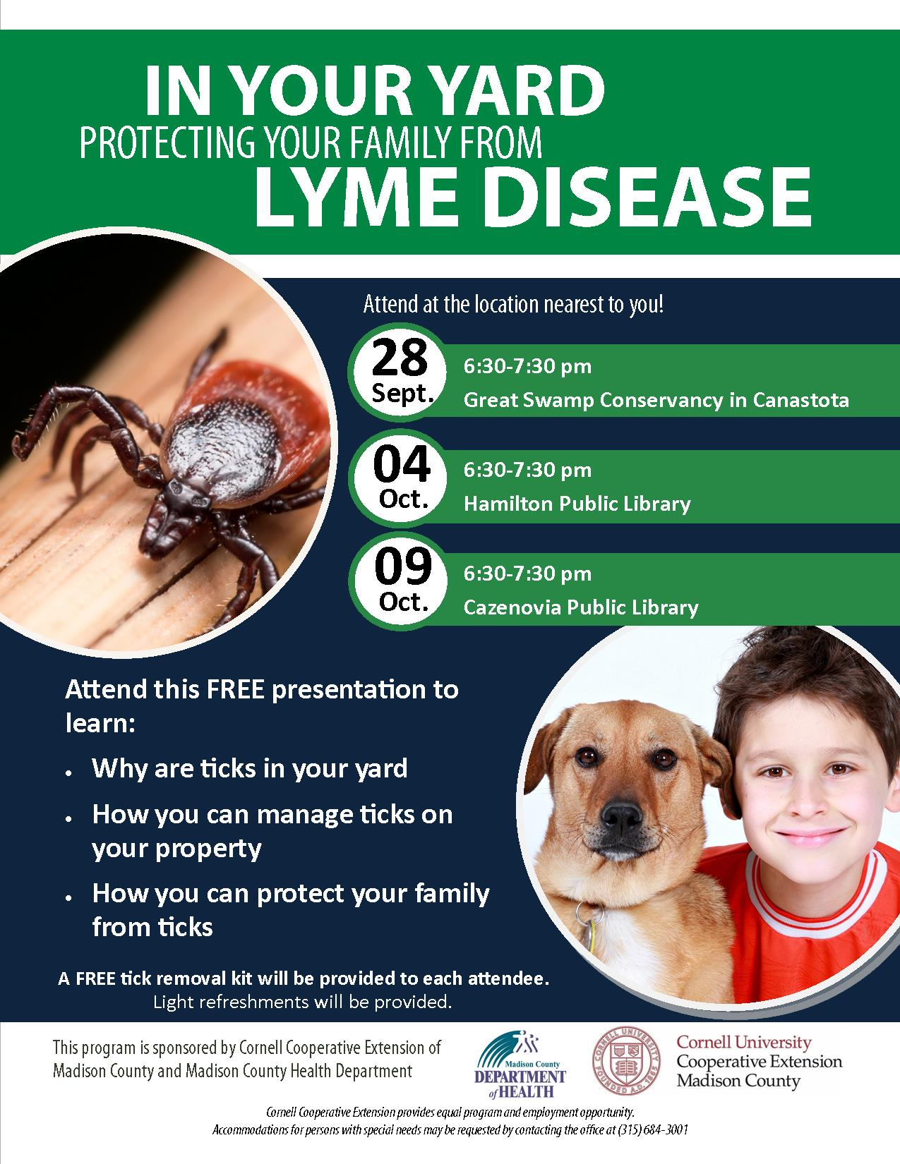 Lyme education event flyer