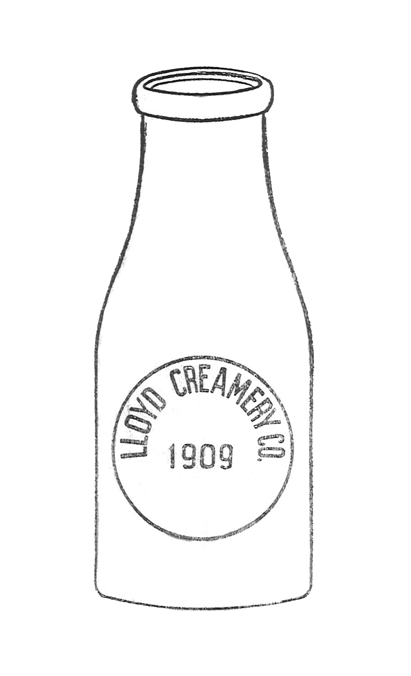 Lloyd Creamery Co. 1909 Trademark Sketch