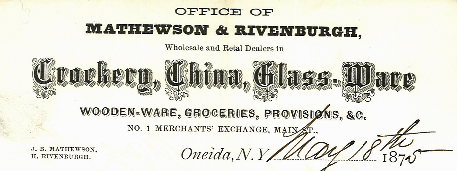 Mathewson and Rivenburg Letterhead