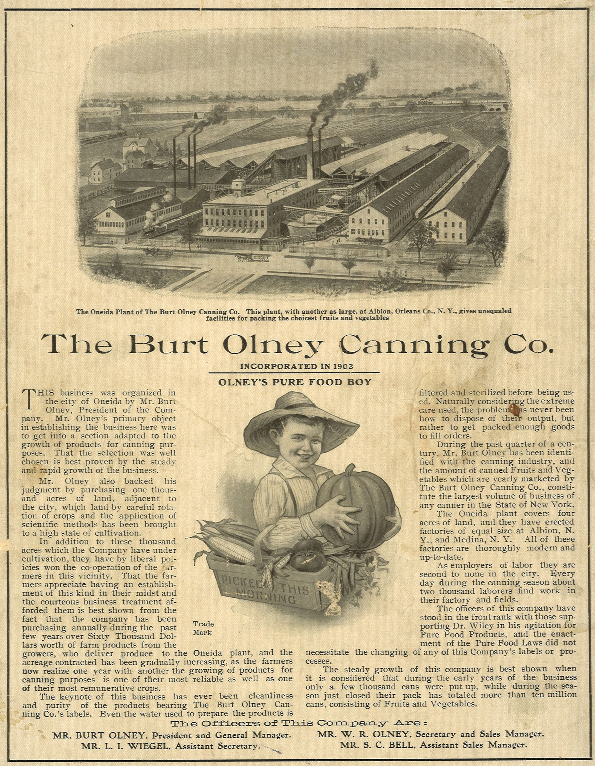 The Burt Olney Canning Co.