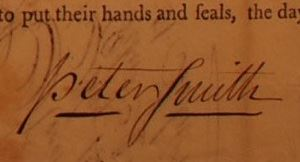 Peter Smiths Signature
