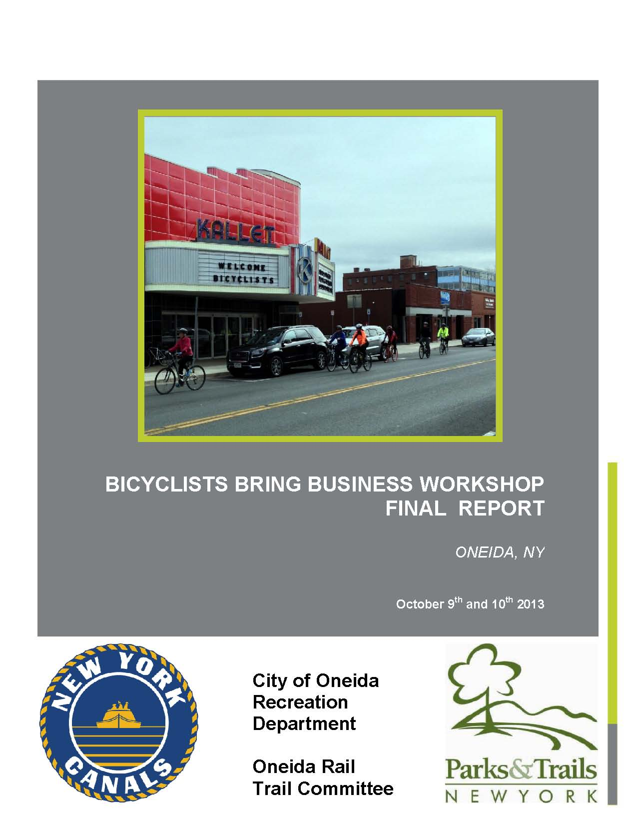 Bicyclists Bring Business Workshop Final Report cover