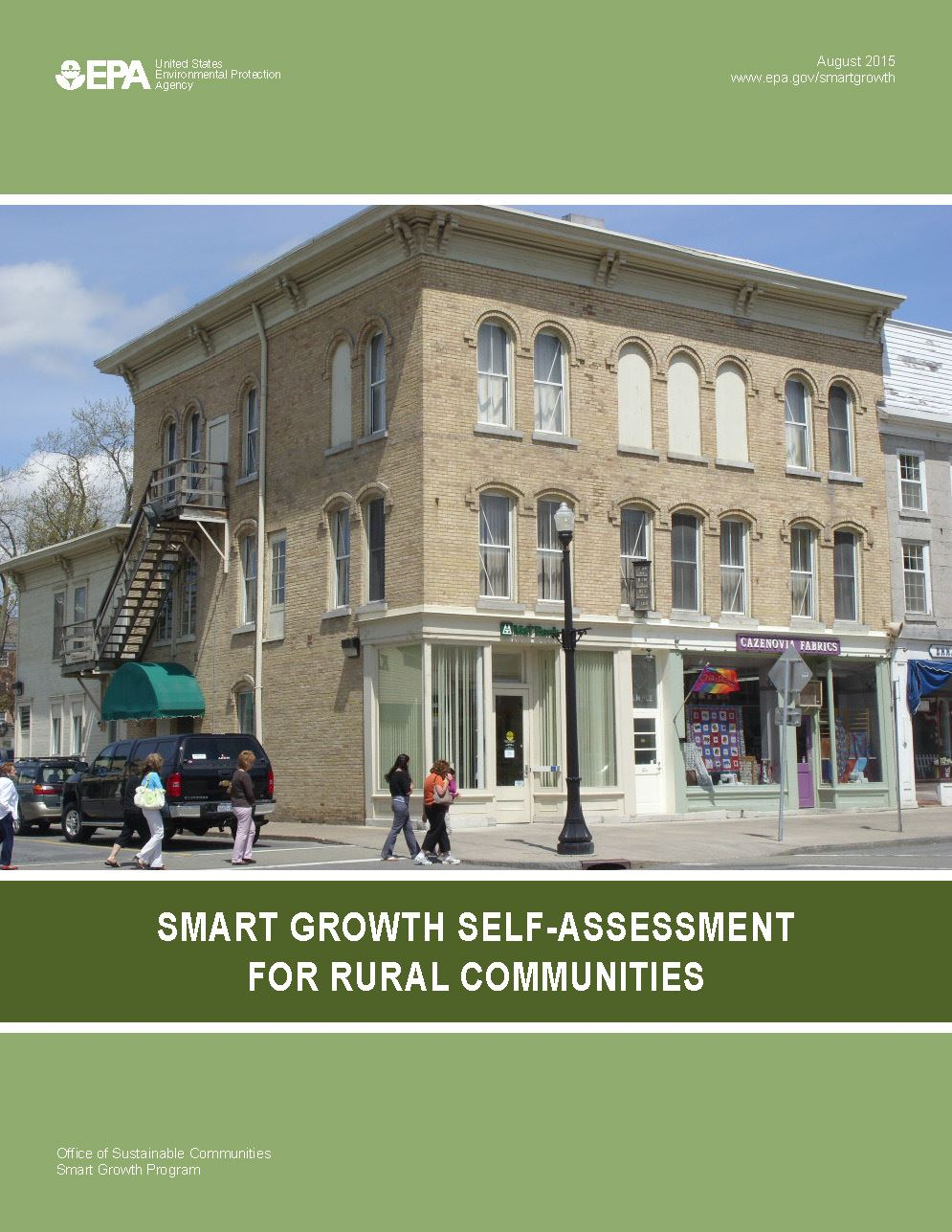 Smart Growth Self Assessment Tool for Rural Communities cover