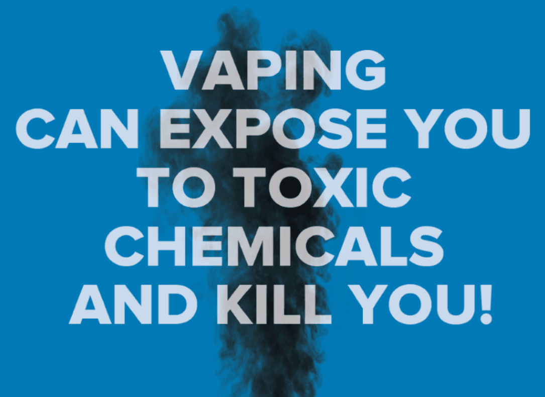 NYSDOH required vaping dangers signage