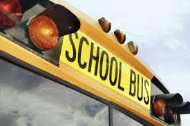 School Bus Top Sign With Lights