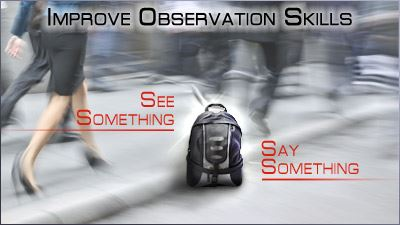 Improve Observation Skills - See Something, Say Something