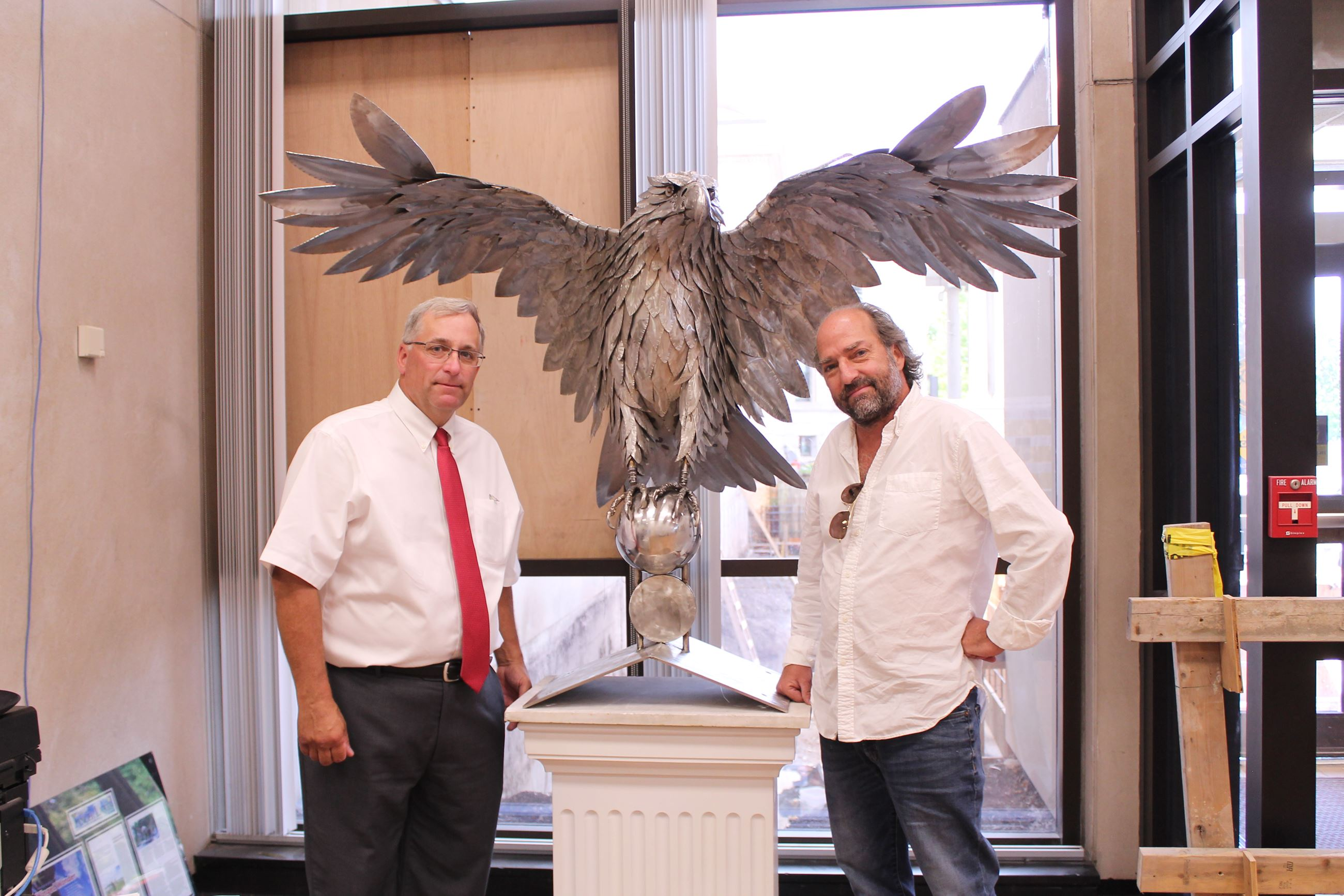 John Becker, Chairman and James Seaman, Sculptor